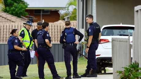 Police investigate an accident involving a teenage girl being run over in the driveway of her Brassall home.