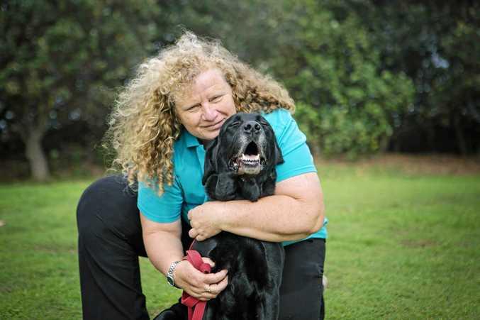 Kyra Ensbey and  dog Chilli.