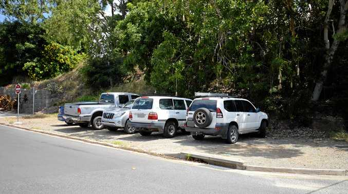 Cars parked on foot path near Rockhampton Hospital are being fined by Rockhampton Regional Council.