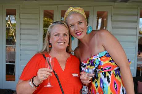 Leighanne Brown and Robyna May at the   Girls Night Out Event in Brisbane.