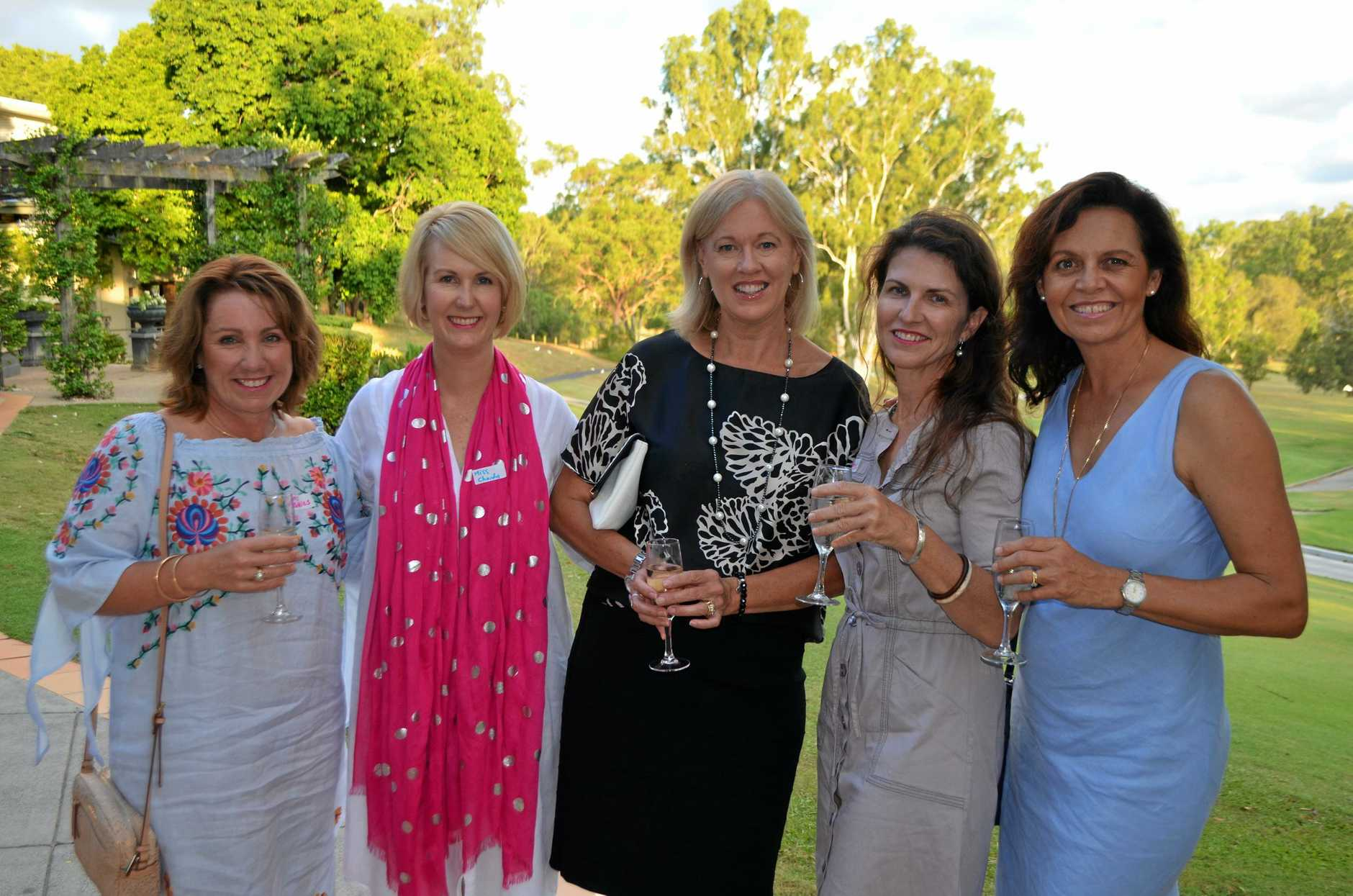 Edwina Pilch, Miss Chardy, Michelle Adcock, Di Sorley and Gina Willmore at Miss Chardy's Girls Night Out.