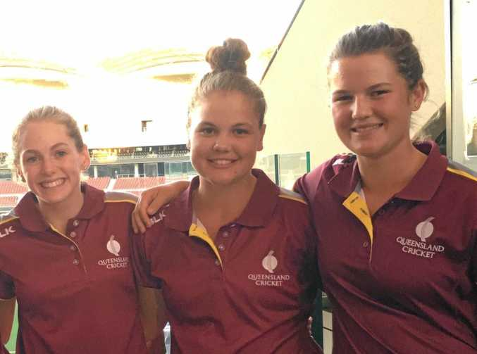 Darling Downs representative players Meg Mettam, Georgia Voll and Ruth Johnston have been selected in Cricket Australia's U15s talent squad.