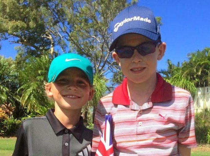 Junior golfers Oscar McBean and Declan Corke.