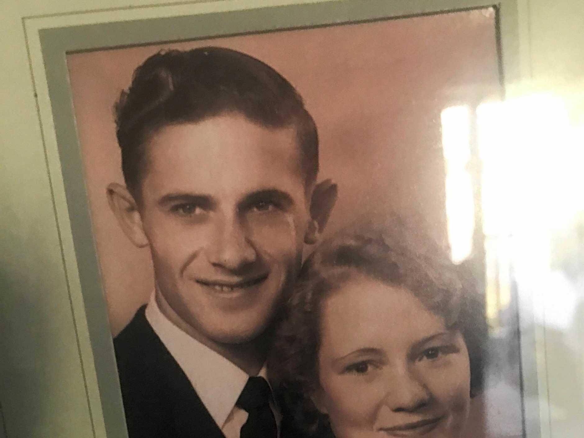 Settimio 'Sam' Tortora and Maisie Newton, when they were first engaged.