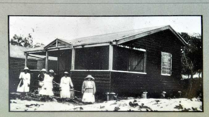 NOOSA Surf Club house during the 1930's is now the Tip Top Tip Shop at the Noosa Refuge station.