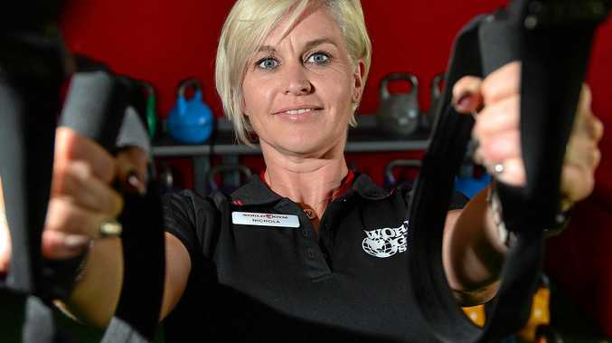 FEELING GOOD: World Gym Maroochydore manager Nichola Stevenson says the Coast's ideal climate is encouraging more and more people to exercise outside.