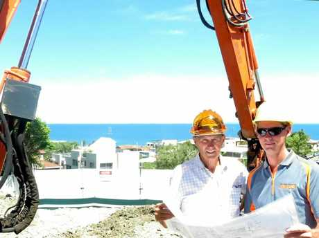 DRIVING FORCE: Sno Carter and Mark Ward overseeing works.