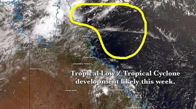 Higgins has issued a tropical low and tropical cyclone watch for the Qld coast.
