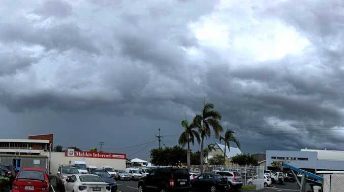Storm clouds loom over Mackay, January 30, 2018.