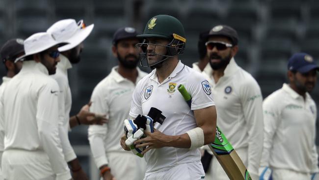 Faf du Plessis' South Africa beat Virat Kohli's India 2-1.
