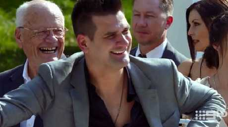 'Douchebag Doug' seemed determined to sabotage his best mate's marriage on MAFS. Picture: Channel 9