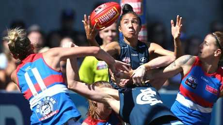 Bec Goddard would like to see a positional zones rule introduced. Picture: Wayne Ludbey