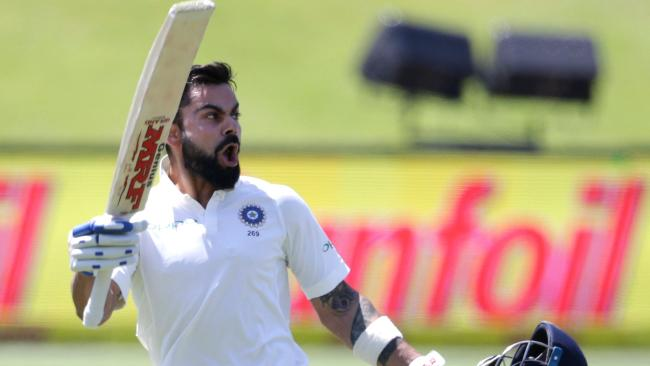 Virat Kohli scored the only century of the Test series.
