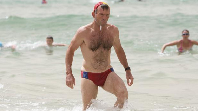 Tony Abbott, pictured here in 2014 in his infamous budgie smugglers, argues the exhibit does not display mainstream Australian values. Picture: Supplied