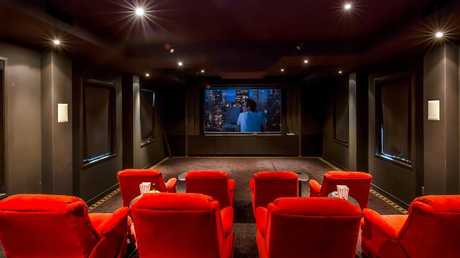 The cinema inside the home at 36 Needham St, Fig Tree Pocket.