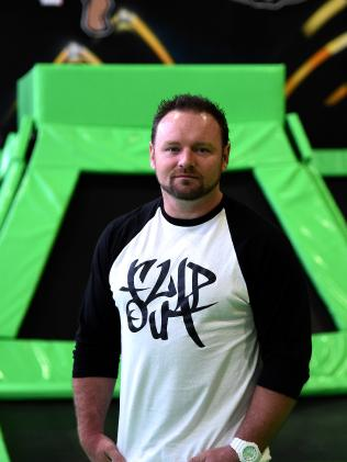 Flip Out trampoline founder Brent Grundy. Picture: Carmela Roche