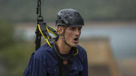 Bernard Tomic struggles with a tucker trial in I'm a Celeb. Picture: TEN