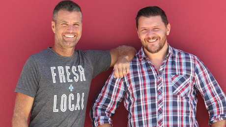 Straight down to business: Pete Evans and Manu Feildel host MKR. Picture: SEVEN