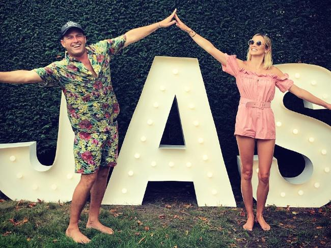 Jasmine Yarbrough posted a photo of her and boyfriend Karl Stefanovic celebrating her 34th birthday. Picture: Instagram