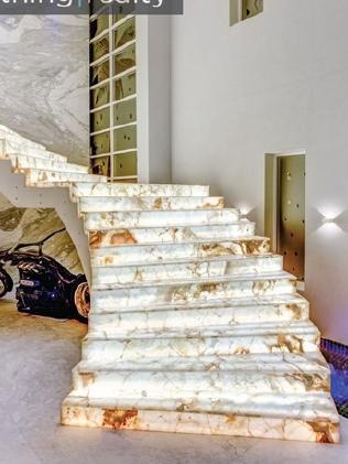 Mehajer's lavish marble staircase.
