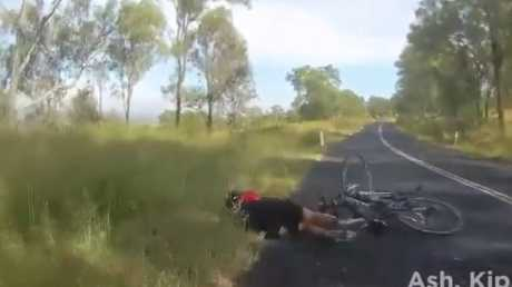 The cyclist was wiped out. Picture: Facebook