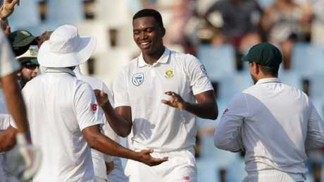 South African bowler Lungi Ngidi made a splash in his first Test series.