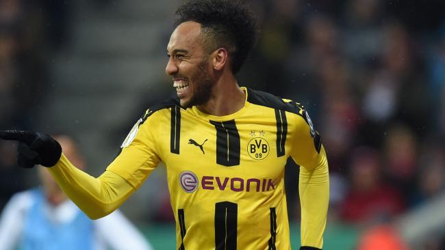 Dortmund's Gabonese striker Pierre-Emerick Aubameyang.