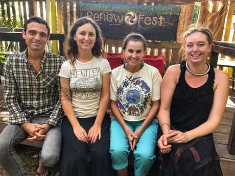 TEAM: Adam Collrtt Director of Creative Foundation, Ella Rose Goninan Creative Director of Renew Fest, Kamala Rose Volunteer coordinator for Renew Fest and Svea Pitman Entertainment coodinator for Rewfest 2017.