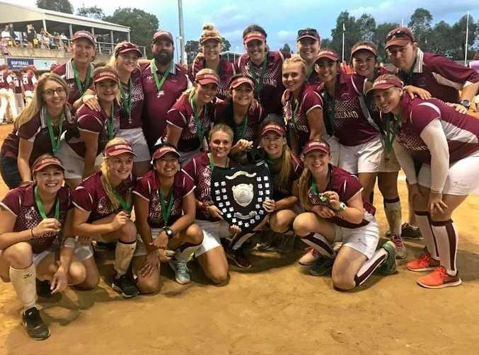 Toowoomba's Monique Smith and Gracen Walk were part of the women's U19 Queensland winning team.