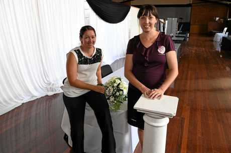 WEDDING SHOW: Cassandra Egan and Lisa-Marie Gallwey are hosting the Wedding Spectacular in February.