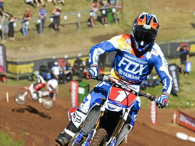 TOP TRACK: CDR Yamaha's Dean Ferris won his second consecutive Thor MX1 title in Round nine of the MX Nationals at Echo Valley in Toowoomba last year.