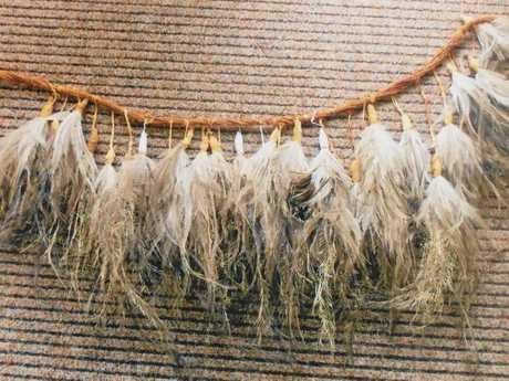 An emu-feather belt.