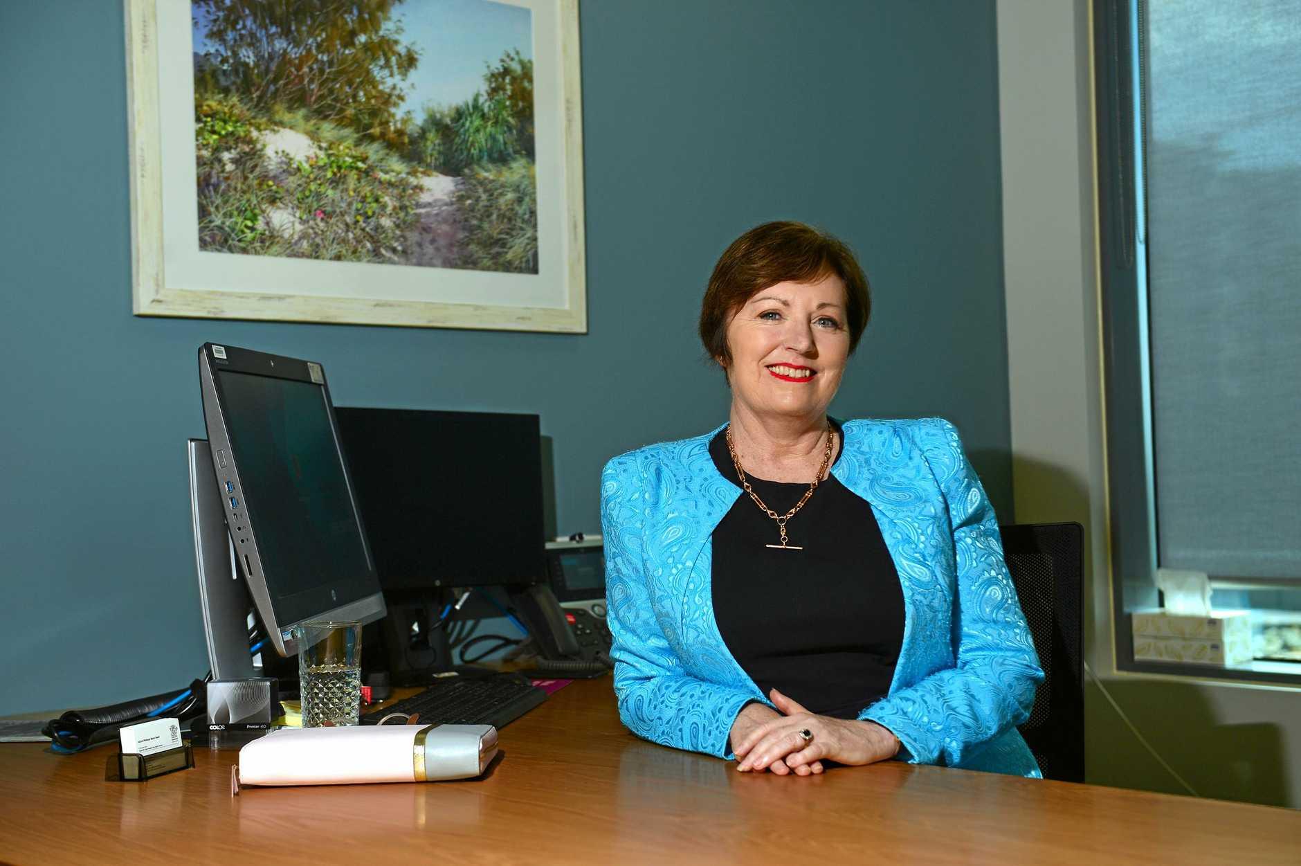 Sunshine Coast Health Service chief executive, Adjunct Professor Naomi Dwyer at the Sunshine Coast University Hospital.
