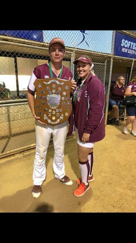 Linc Walk and his sister Gracen both won state titles with their U19s Queensland teams.