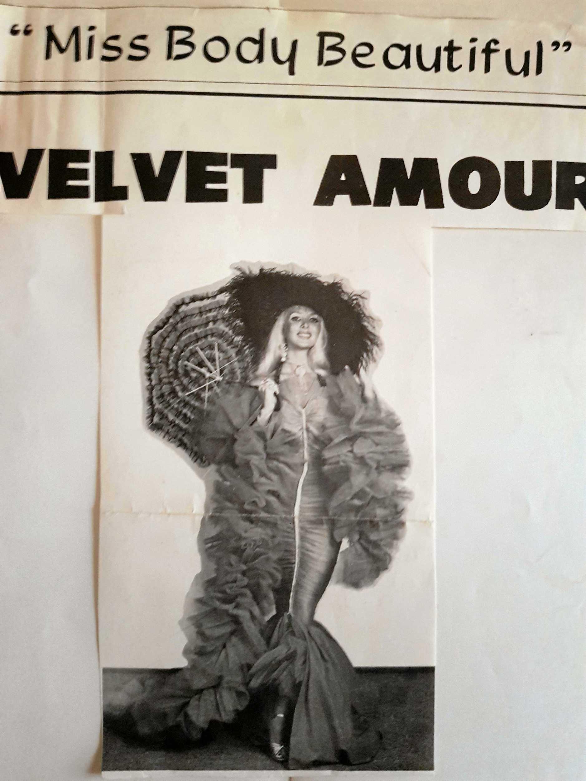 Velvet Amour in her burlesque heyday.