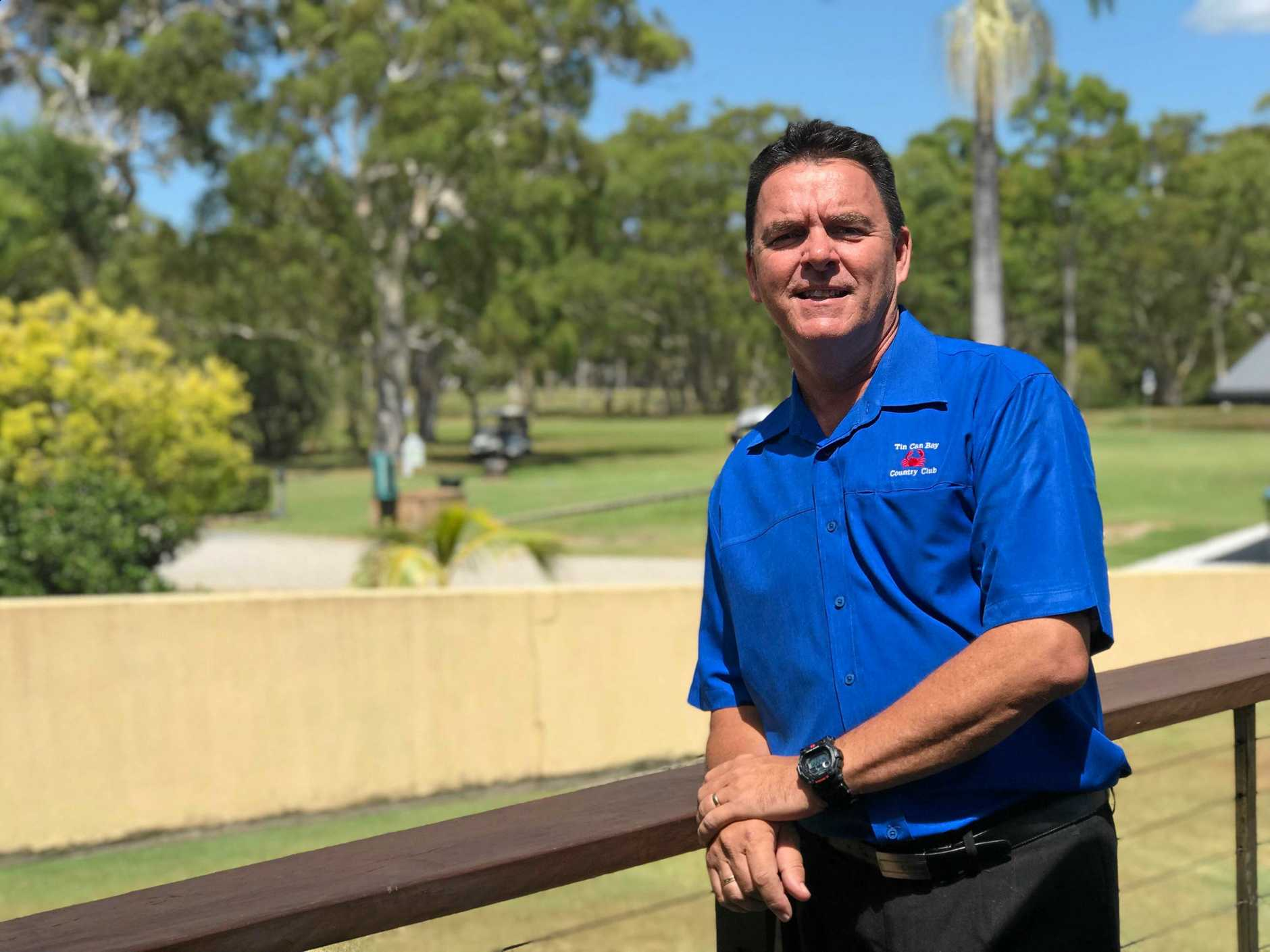 POSITIVE: Tin Can Bay Country Club's Brad Robb believes the bypass will do great things for the coast.