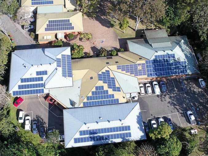 Solar panels dominate the roof of Bellingen Shire Council's administration building.