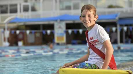 KEEN SWIMMER: Seamus Graham, 9, is excited to take part in the Downs Little Lifeguards program.