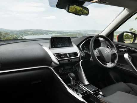 The interior is a step up for Mitsubishi in form and function. Picture: Supplied