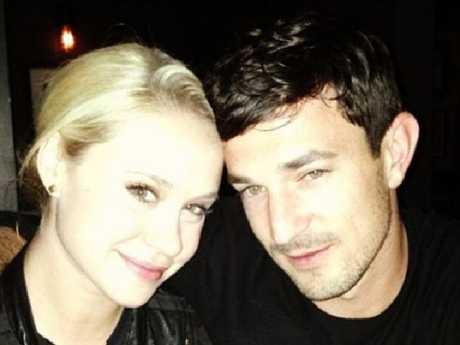 Glee star Becca Tobin with boyfriend Matt Bendik who died in 2014. Picture: Instagram
