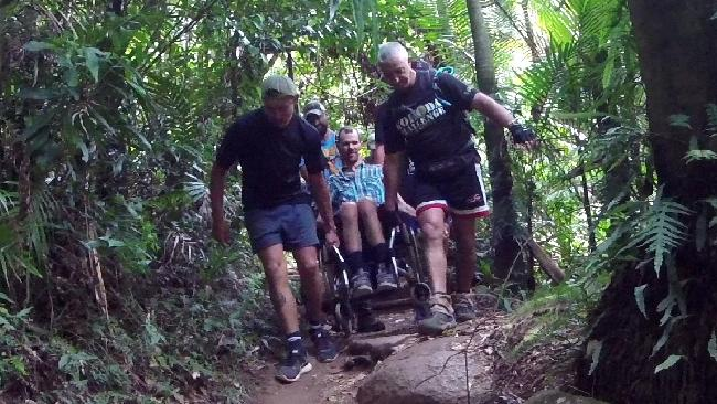Carl Reiner during his ascent of Mt Warning.