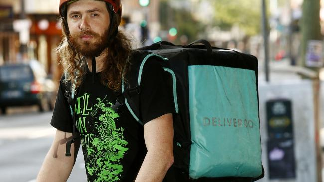Ex-Deliveroo rider Tom Boorman is one of many food delivery drivers who have been injured on the job. Picture: John Appleyard