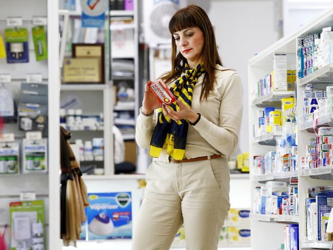 Pharmacist Adele Tahan at Adore Pharmacy in Sydney's Rozelle. Picture: John Appleyard