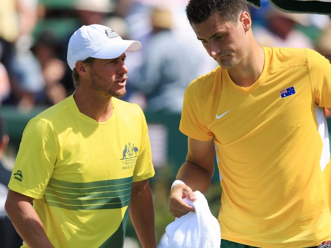 Lleyton Hewitt and Bernard Tomic's feud continues.