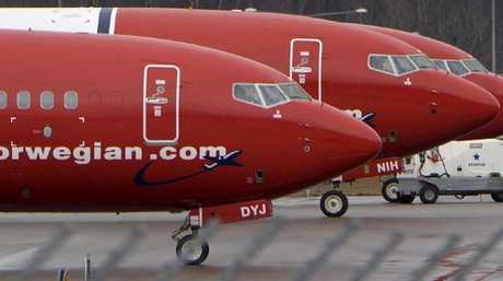 The Norwegian Air flight had to be turned back because of the toilet. Picture: TT News Agency/Reuters