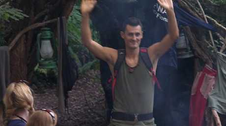 Bernard Tomic leaving the jungle on I'm A Celeb.