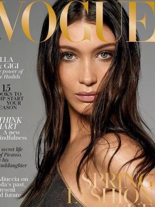 Bella's cover. Picture: Vogue