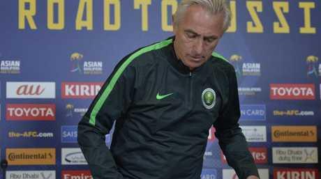 Saudi Arabia head coach Bert Van Marwijk in Adelaide as coach of Saudi Arabia.