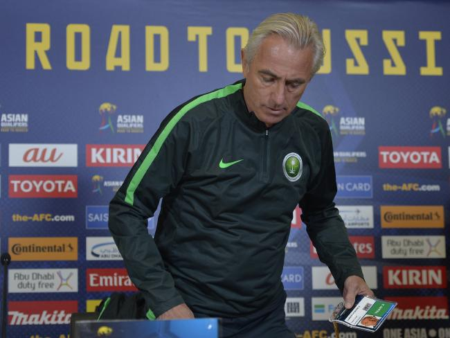Saudi Arabia head coach Bert Van Marwijk in Adelaide as coach of Saudi Arabia.