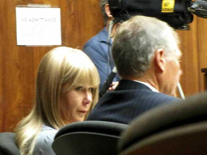 Alexandria Duval and her defense attorney Birney Bervar listen to testimony her murder trial Monday, Jan. 29, 2018